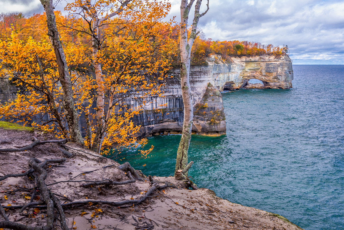 Grand Portal Point in the Pictured Rocks National Lakeshore. PC: Tim Trombley